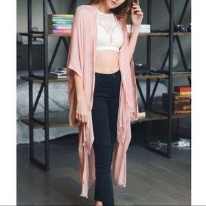 Beautiful Dusty Pink Kimono  -  NWOT